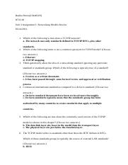 Unit 3 Assignment 1 Networking Models Review.docx