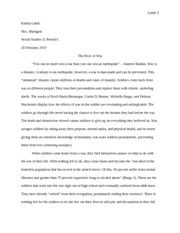 The Price of War Essay