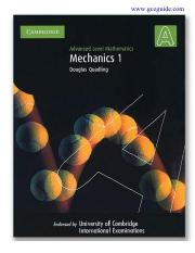 [Cambridge International AS & A Level] Douglas Quadling - Advanced Level Mathematics_ Mechanics 1 (2