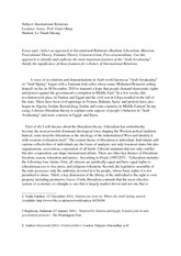 Essay - Le Thanh Huong - International Relations