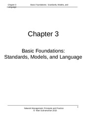 Week 7 - NMPP Chapter 3 - Standards Models and Language