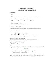 ABE 303 Homework Two Solution