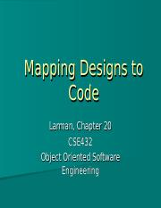 11MappingDesigntoCode ppt - Mapping Designs to Code Larman Chapter