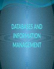 Lecture Four DATABASES AND INFORMATION MANAGEMENT.pptx