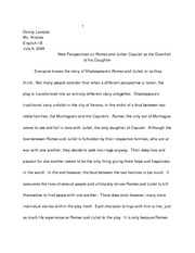donnys r and j essay