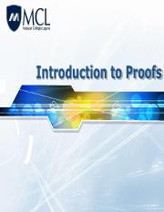 Lecture 5- Types of Proofs