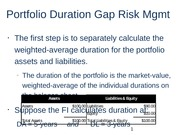 Portfolio Duration Gap Risk Mgmt