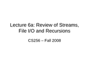 IO Streams and Recursion