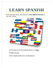 Spanish Lessons Flyer