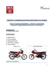 Product Cannibalization in Motorcycle Family-Business Research