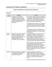 week four health care financial terms worksheet week four health care. Black Bedroom Furniture Sets. Home Design Ideas