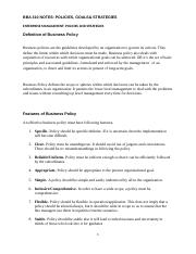 BBA 310 Policies,Goals and Strategies-2.docx