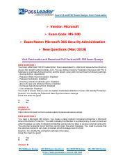 2019-New-PassLeader-MS-500-Exam-Dumps-VCE-PDF-Braindumps
