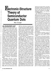Zunger, A. - Electronic Structure Theory Of Semiconductor Quantum-Dots (1998)