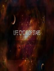 Life Cycle of Stars