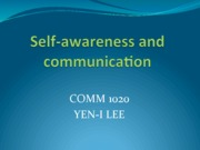 0111 Self-awareness and comm