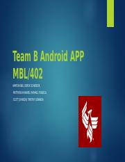 Team B Android APP MBL