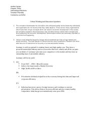 Critical Thinking and Discussion Questions Chapter Three.docx