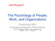 Lecture 10, Evaluating Employee Performance and Training, Full Slides, Nov. 19th, 2009