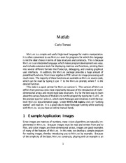 Lecture on Matlab (Part 1)