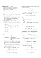 Exam 1 Study Guide Solution Fall 2007 on Engineering Mathematics III (Numerical Methods)