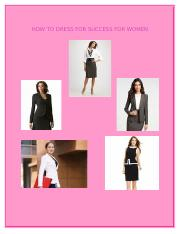 How to dress for success for women.docx