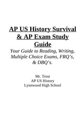 AP US History Survival Guide & Study Guide