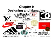 Chapter 9: Designing and Managing Products