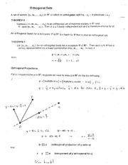 5.2-3 Orthogonal Sets and Orthogonal Projections