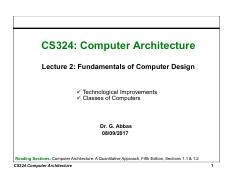 2. Fundamentals of Computer Design Technological Improvements & Classes of Computers.pdf
