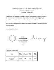 CHEM 201- cyclohexene prelab