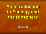BioII Ch52 Intro Ecology