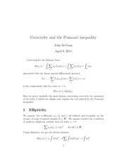 Lecture Notes on Coercivity