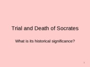 Trial and Death of Socrates