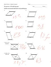 Printables Properties Of Parallelograms Worksheet 6 properties of parallelograms pdf kuta software infinite geometry name