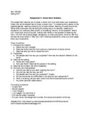 assignment social norm violation hypothesis a did people  assignment 2 social norm violation 2 hypothesis a did people react the way you expected how was the reaction different or the same 3 describe the
