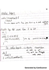 Data Structures and Algorithms - While Loops Notes