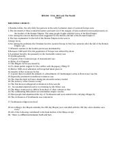 HIS201 USA Africa and the World Test 4 Study Guide Fall 2014