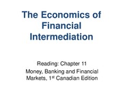 CH11_The Economics of Financial Intermediation