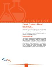 42-0143-00-02-EXP, Caloric Content of Food