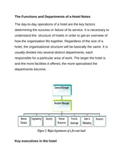The Functions and Departments of a Hotel Notes