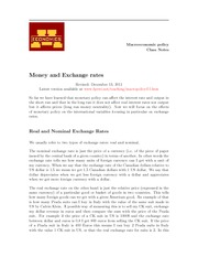 LEC13 Money and exchange rate