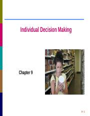 INDIVIDUAL_DECISION_MAKING_class notes