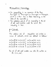 Lecture 7 - Inequalities