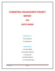 MARKETING MANAGEMENT PROJECT