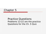 BUS 20 Chapter 5 Word Problems