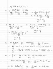 Honors Calculus Benchmark 2 Review