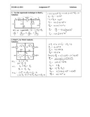 EE 240 Assignment  (7) Solution