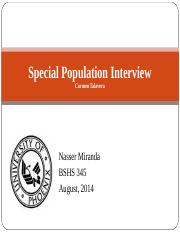Special Population Interview.ppt