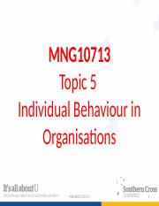 MNG 10713 Topic 5 Students